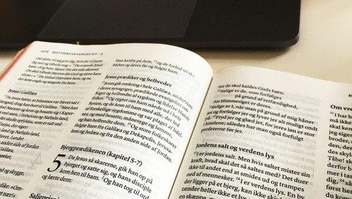 Billede af en bibel