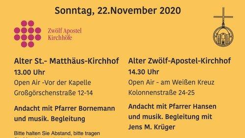 Alter St.-Matthäus-Kirchhof - Andacht zum Ewigkeitssonntag