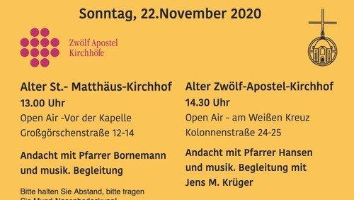Alter Zwölf-Apostel-Kirchhof - Andacht zum Ewigkeitssonntag