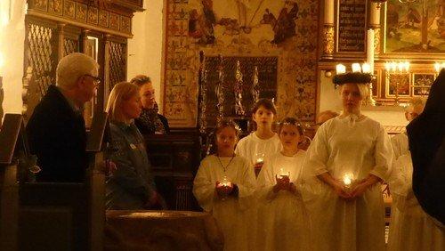 Juleandagt med Luciaoptog  i Visborg kirke