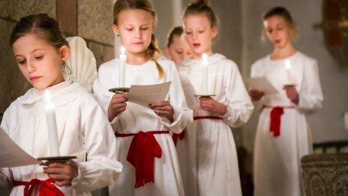 Luciagudstjeneste i Bårse Kirke