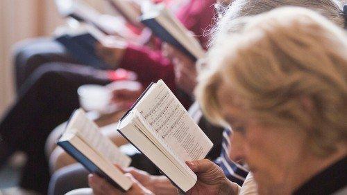 Højskolesang: Fællessangsgudstjeneste med tilmelding