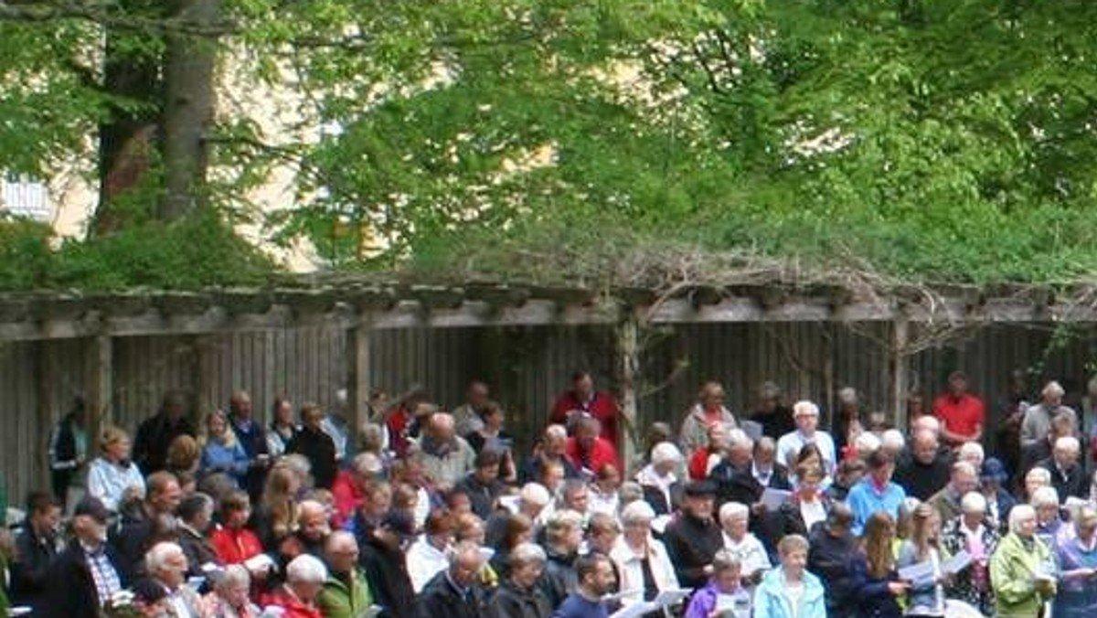 Friluftsgudstjeneste ved Silkeborg Bad
