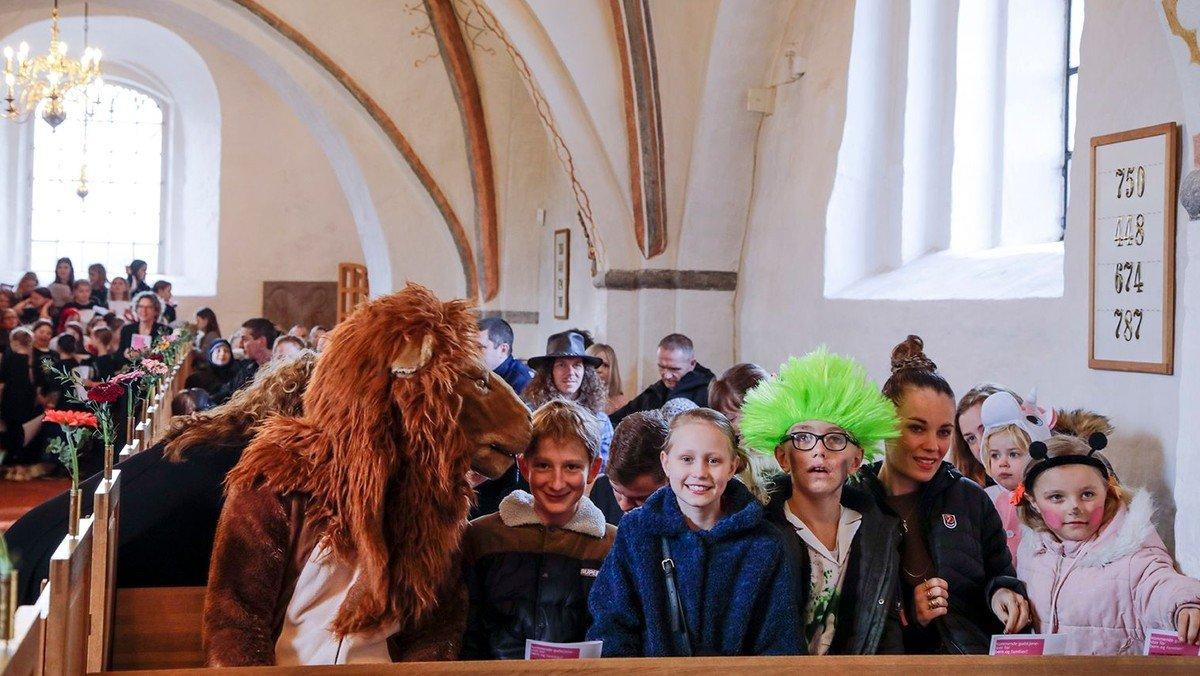 Fastelavnsgudstjeneste i Fovlum Kirke
