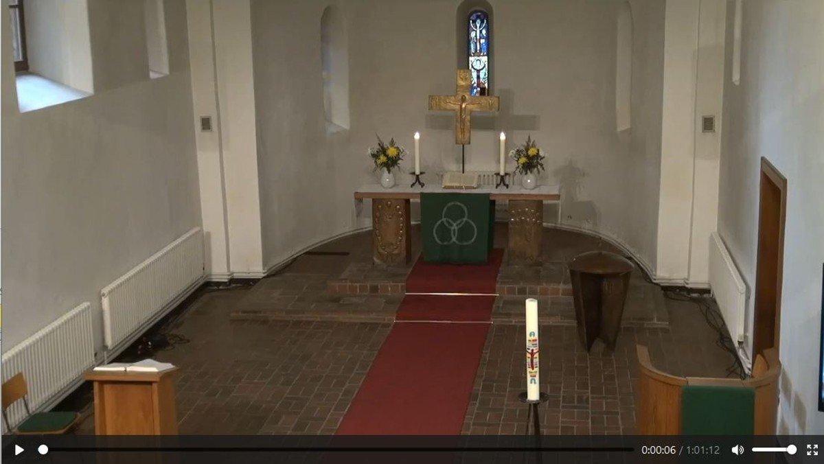 Zoom-Gottesdienst aus der Dorfkirche Schönefeld