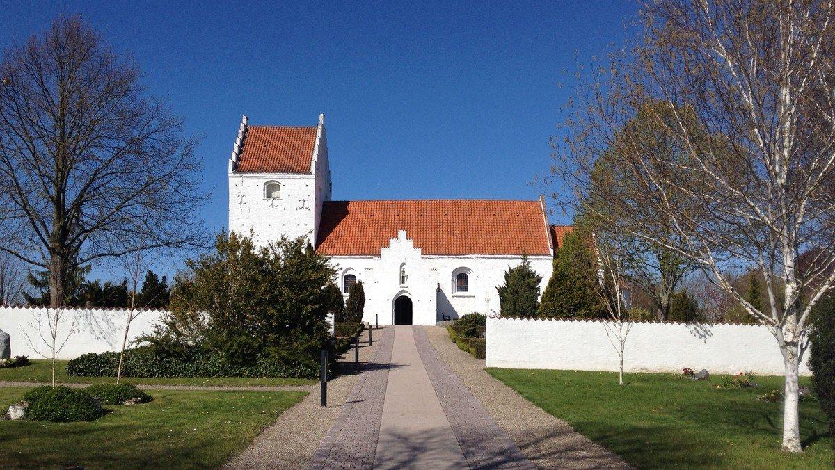 Gudstjeneste i Ågerup kirke v. Sophie Juel (Bemærk tidspunktet)