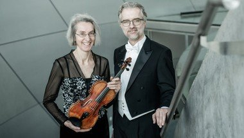 Christine E. Langer, violin og Lars Colding Wolf, orgel