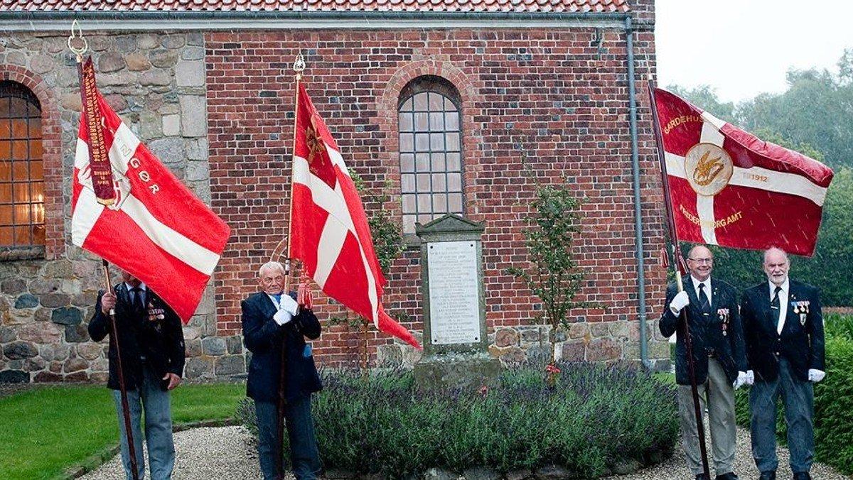 Gudstjeneste på flagdagen for veteraner og faldne soldater
