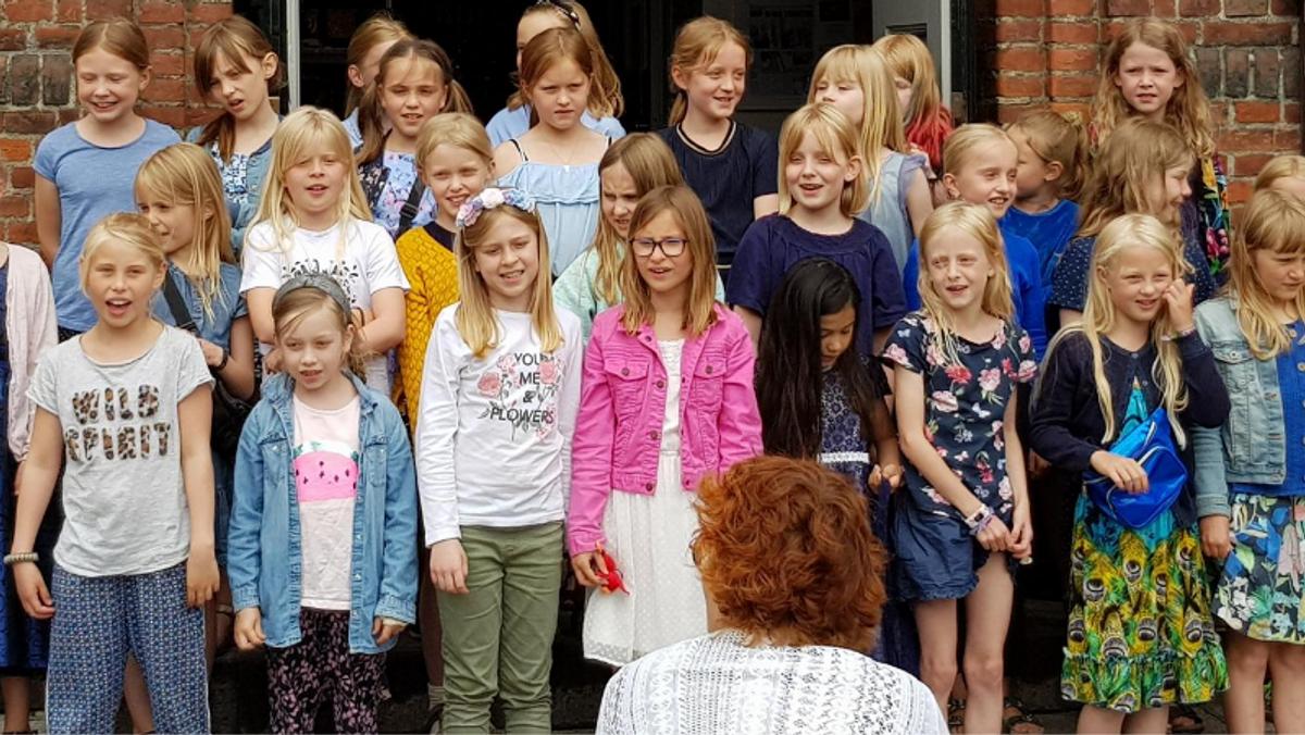 Juniorkoret øver i Simeons Kirke