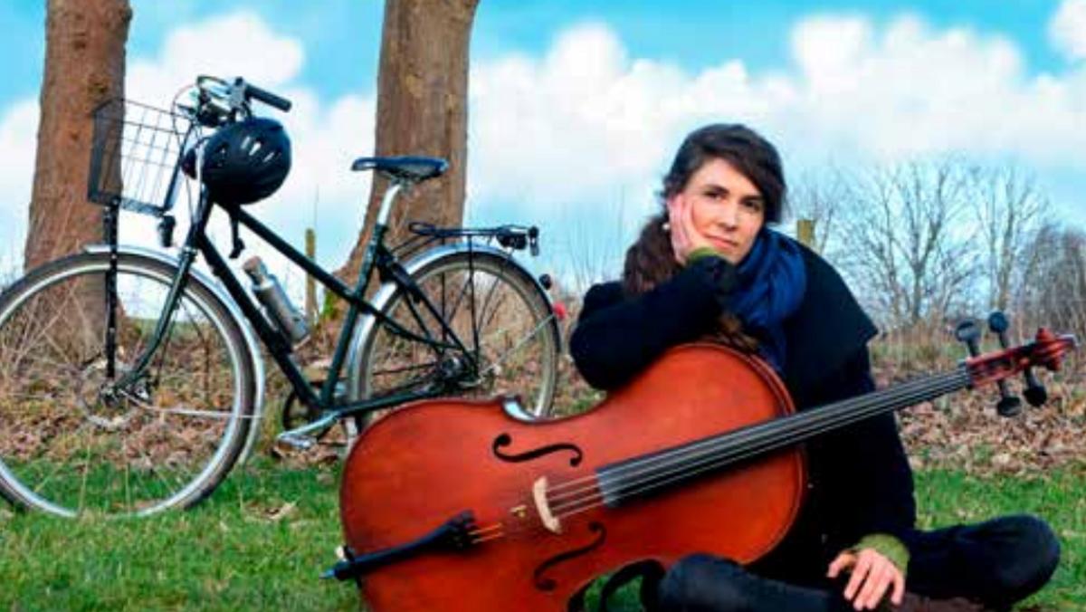 Cellokoncert med en cyklist