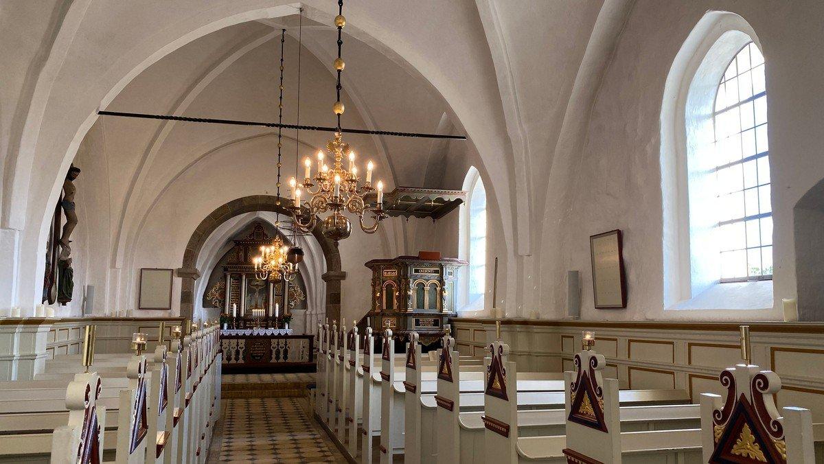 Gudstjeneste Sdr. Tranders kirke v. Aksel L. Toft