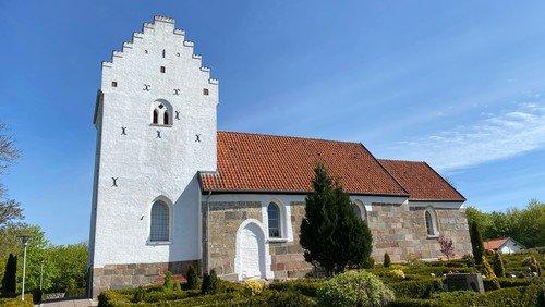 Gudstjeneste Sønder Tranders Kirke v. Mette Tved