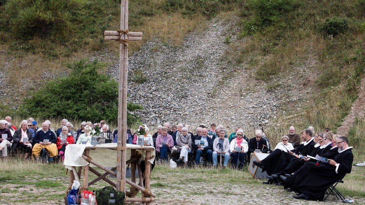 Friluftsgudstjeneste i Klint Kalkbrud