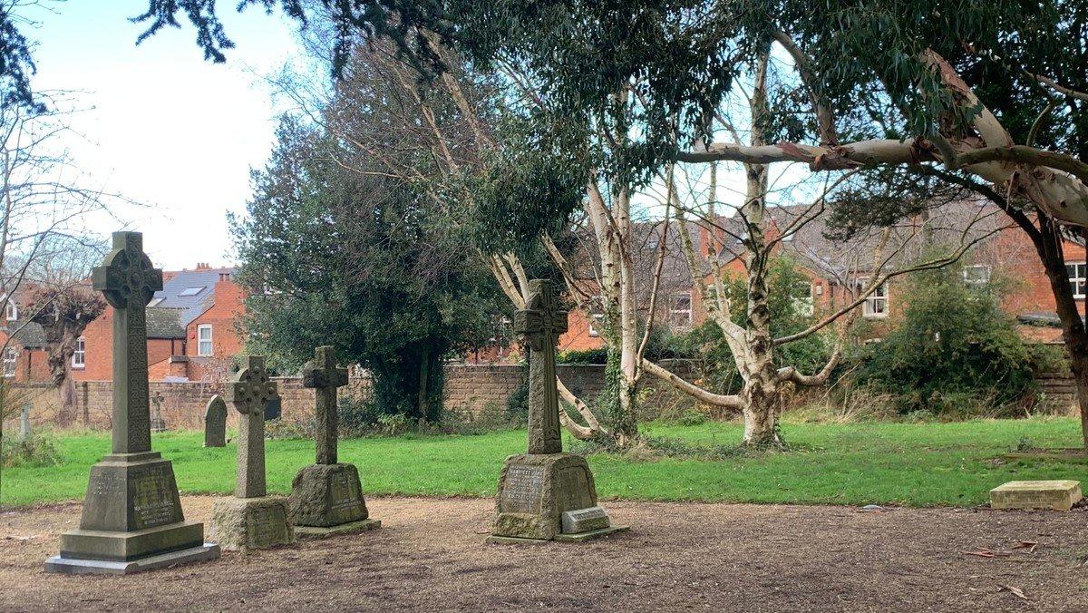 Midday Prayers in the churchyard
