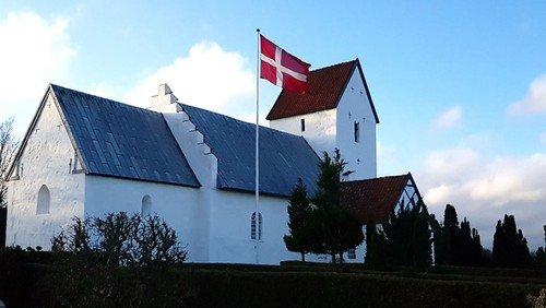 Udendørs gudstjeneste Øster Alling Kirke - 11. s. e. trinitatis