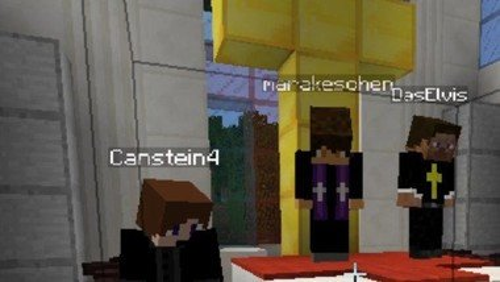 Minecraft-Pfingst-Gottesdienst