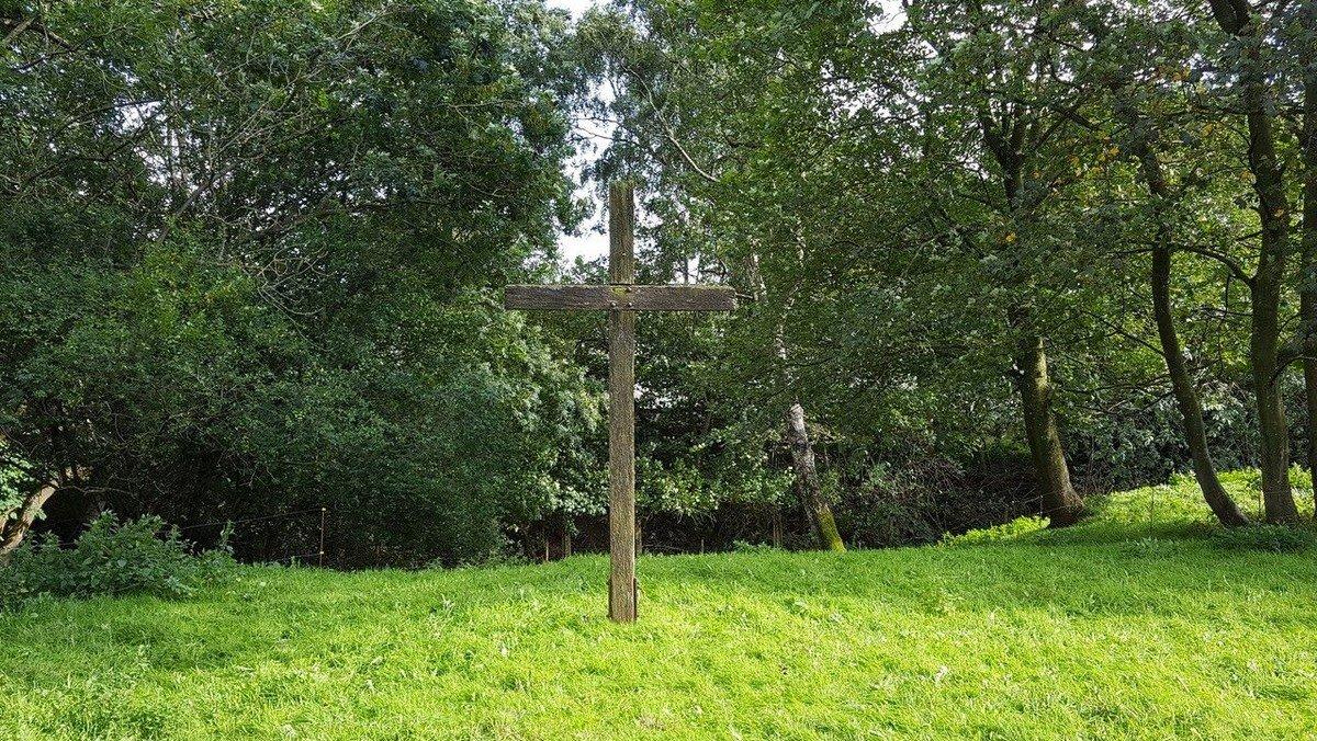Gudstjeneste på Kirketomten i Svingelbjerg
