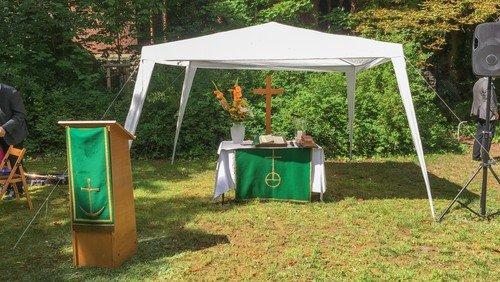 Ökumenischer Hybrid-OPEN-AIR-ZELT-Gottesdienst der Region NoOMi zu Himmelfahrt