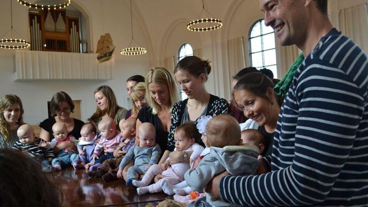 Gudstjeneste babysalmesang