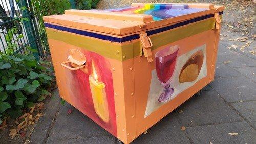 Hoffnungsbox beim Gottesdienst im Schlosspark Wulkow