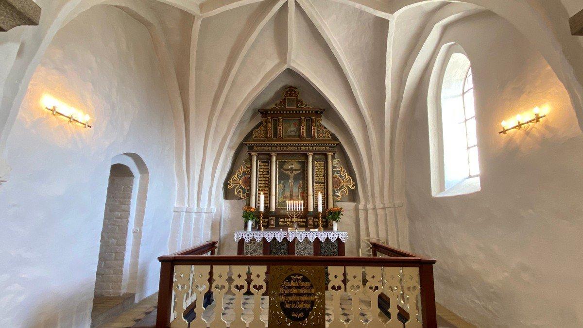 Gudstjeneste i Sdr. Tranders  v. Line Vesterlund