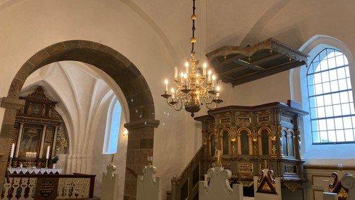 Gudstjeneste med dåb i Sdr. Tranders  v. Line Vesterlund