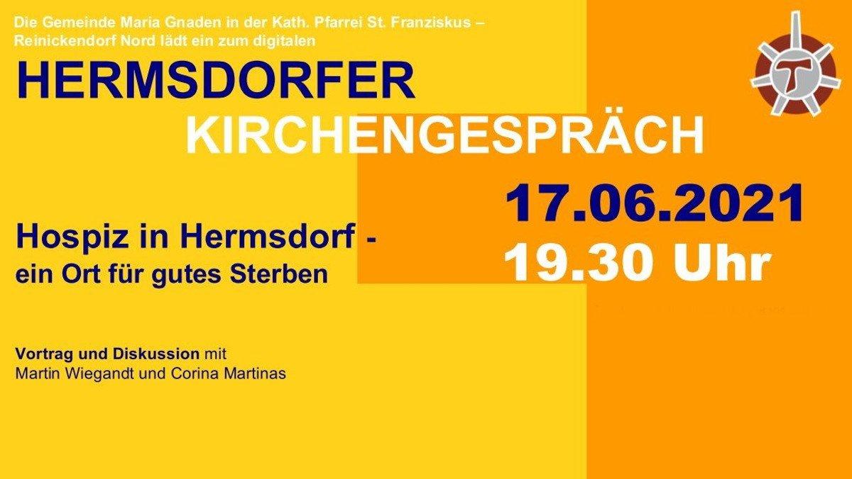 """Hermsdorfer Kirchengespräch DIGITAL: """"Hospiz in Hermsdorf - ein Ort für gutes Sterben"""""""