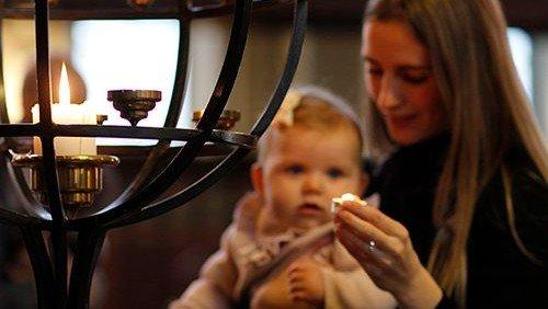 Gudstjeneste for babysalmesangholdene i Kristkirken
