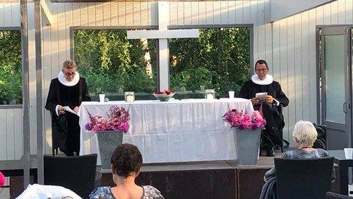 Friluftgudstjeneste i Fruerlundparken