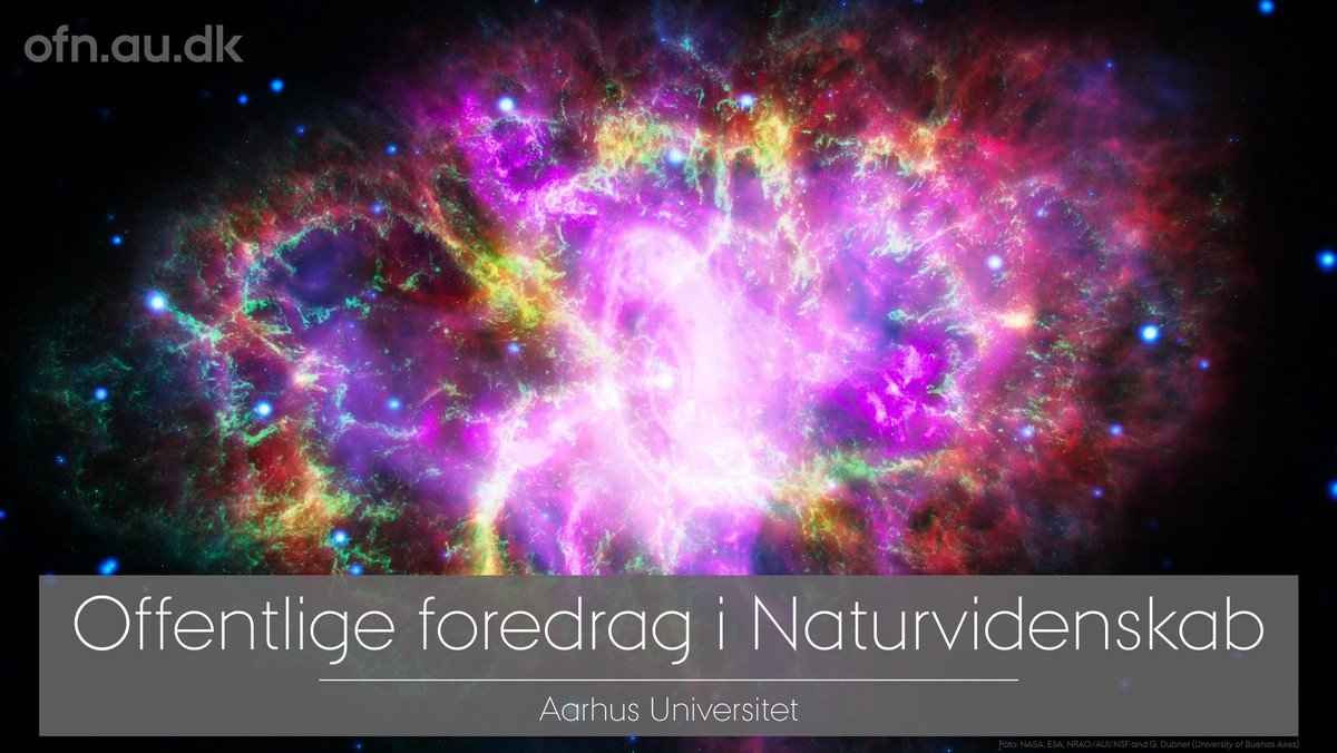 Livestream fra Aarhus Universitet - Big Bang og det usynlige univers