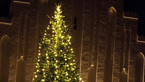 Familiegudstjeneste og juletræstænding