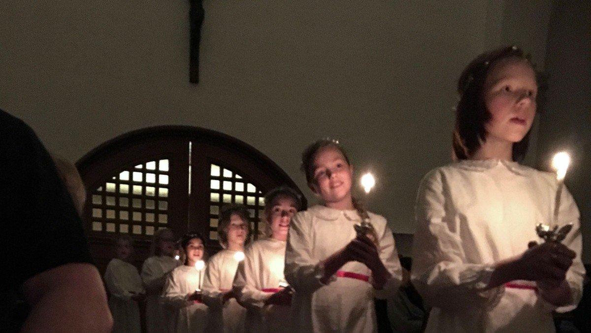 Lucia med korskolen