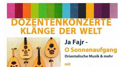 Dozentenkonzert - Orientalische Musik & Mehr