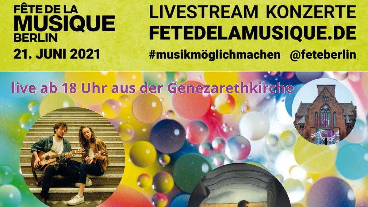 Fête de la Musique  in Genezareth - per Livestream