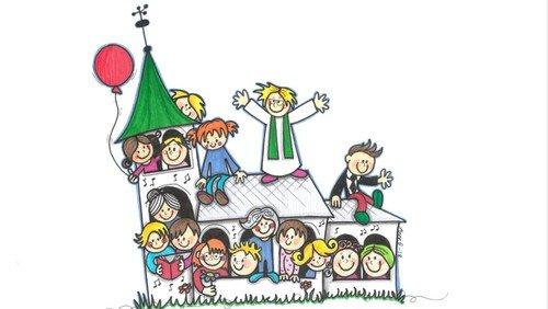 Børnegudstjeneste Nibe kirke med kirkekoret
