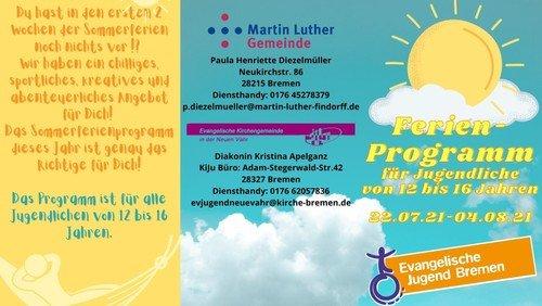 Sommerferienprogramm für Jugendliche