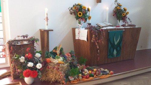 Erntedank-Gottesdienst - vor Ort und online -