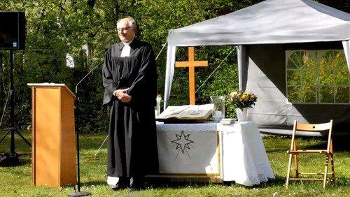 Open-Air-Gottesdienst mit Taufe in Waidmannslust