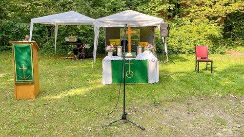 Open-Air-Gottesdienst mit Abendmahl in Waidmannslust