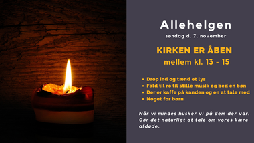 Åben Kirke -  Allehelgen