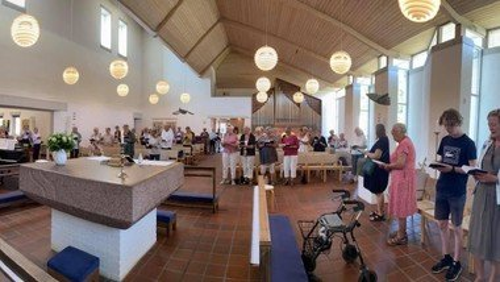 Fællessang i Sthens Kirke