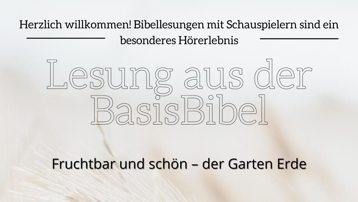 Lesung aus der Basisbibel Schauspieler liest aus der Bibel