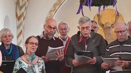 Gudstjeneste i Sjelle Kirke med kirkekor