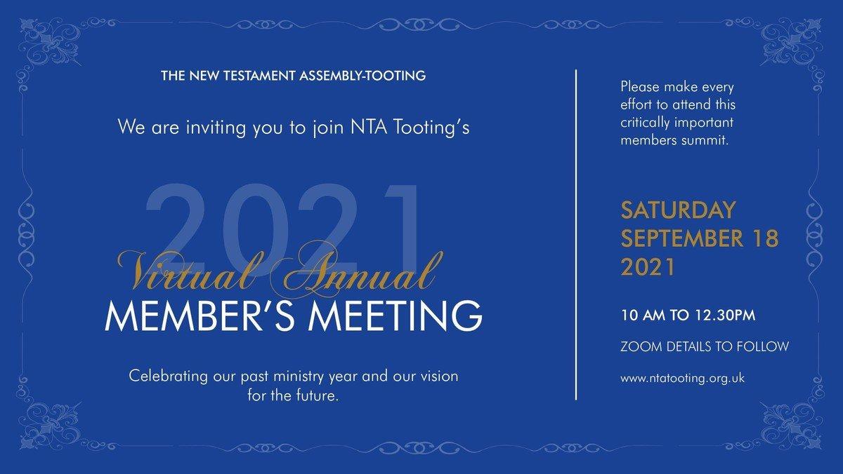 2021 Virtual Annual Members Meeting