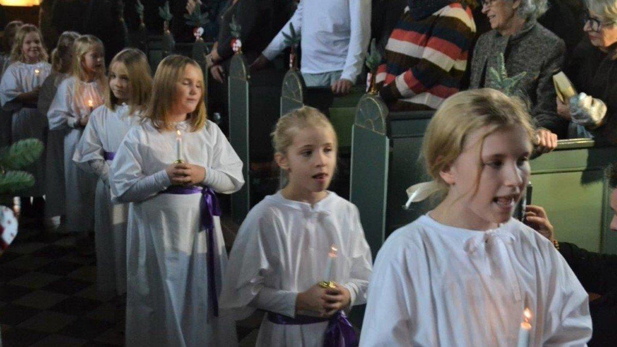 Første søndag i advent med Lucia-optog og eftermiddagskaffe