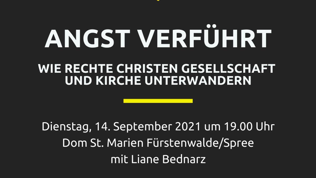 Angst verführt - Treff im Dom mit Liane Bednarz
