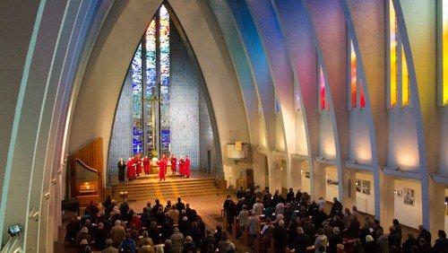 Der 555. NoonSong in der Kirche Am Hohenzollernplatz - in der Kirche und im Livestream