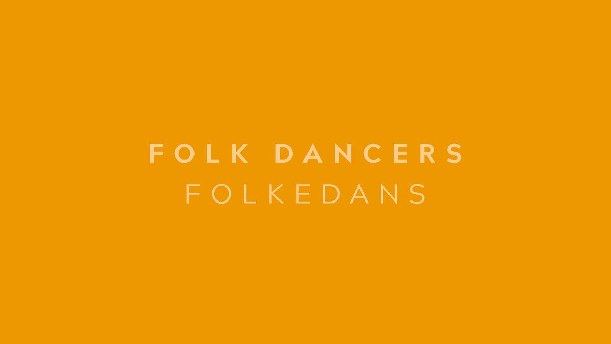 Folkdancing