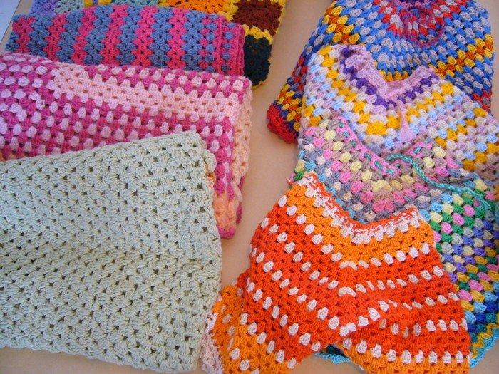 Hækletøj i mange farver