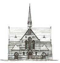Stregtegning (Fra Sct.Thomas Kirke 1898-1998)